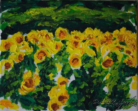 0015-les tournesols, 27/22 oil on canvas