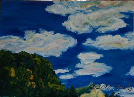 0043-view of Ste Victoire from my studio, 70/50cm oil on canvas