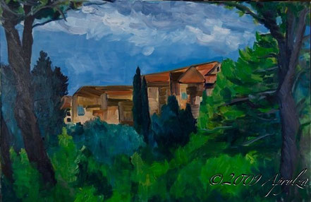 0041-le Château de St Marc Jaumegarde, 92/60cm oil on canvas