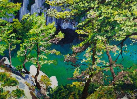 above la calanque d'EnVau, 55/46cm oil on canvas