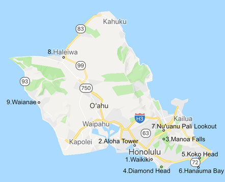 hawaii-oahu-map-route
