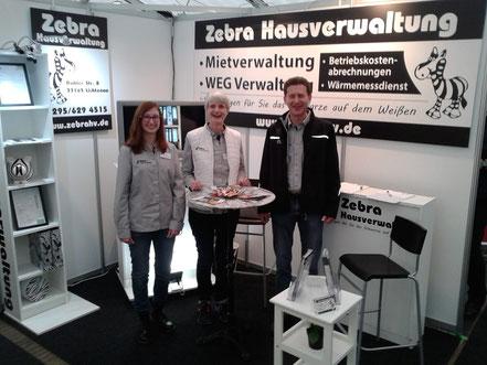 Das Team der Zebra Hausverwaltung in Paderborn auf der Paderbau 2019