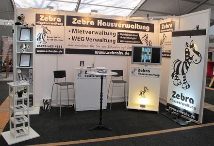 Stand der Zebra Hausverwaltung in Paderborn auf der Paderbau.
