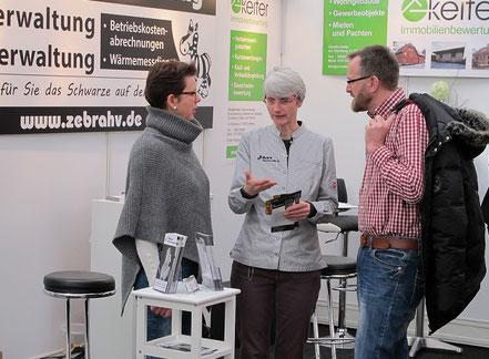 Kundengespäch auf der Paderbau in Paderborn