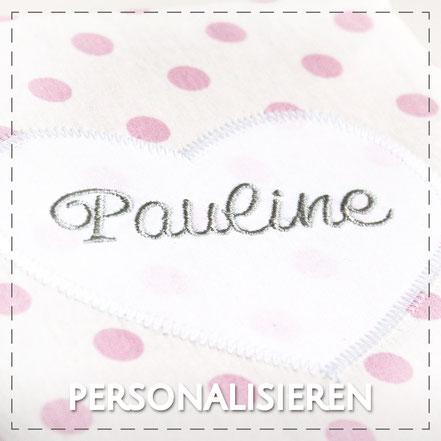 personalisieren Wunschname Name sticken persönlich handmade Julia Design