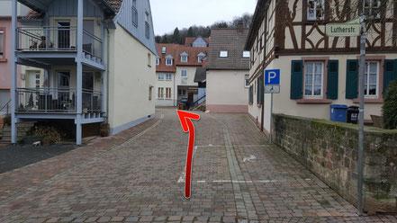 ...rechts ab in die Klosterstrasse...