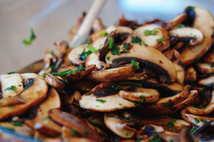 sauer macht glücklich Pilzsalat