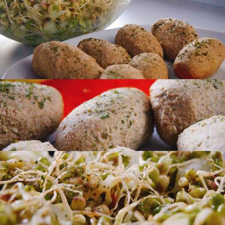sauer macht glücklich buchweizenklößchen und mungbohnensalat