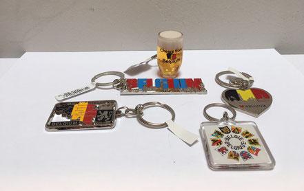 Porte-clefs Porte Clés Belgique chope drapeau