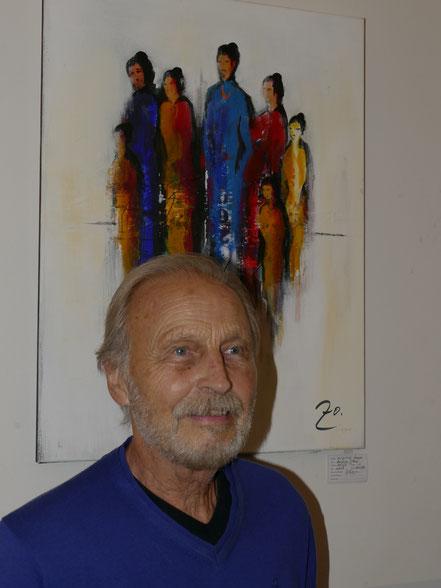 Wilfried Zoppa vor seinem Werk
