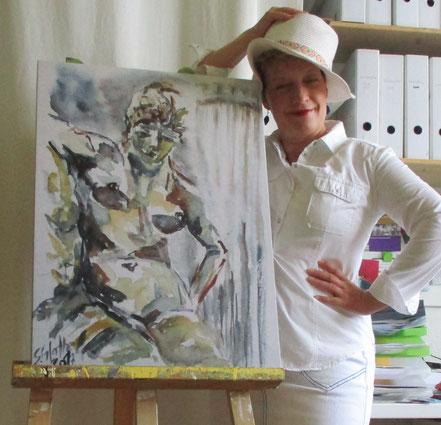 Sabine Glathe mit Nymphe