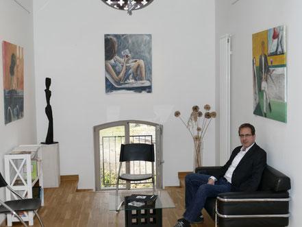 Georg Grell in der Ausstellung Tango Argentino in Farbe und Tanz