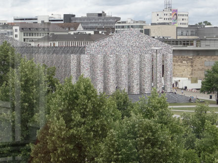 Marta Minujín, The Parthenon of Books, Kassel Documenta 14