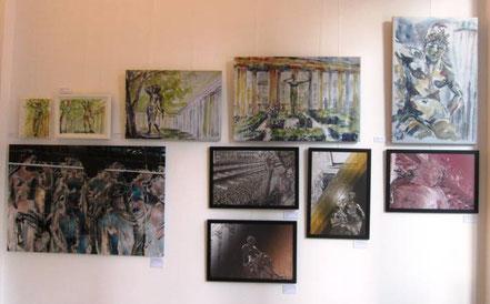 Werke von Sabine Glathe oben und Georg Grell unten