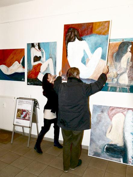 Abbau der Ausstellung, Caroline Roling, Jürgen Kühne
