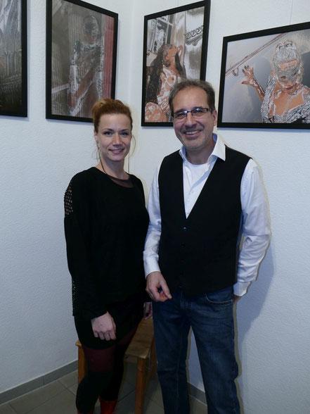 Nadine Guder (Model) und Georg Grell