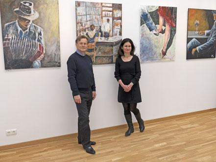 Caroline Roling und Jürgen Kühne in Ribbeck