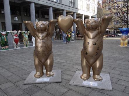 Golden Rule aus der Partnerstadt Berlin. Beschriftung mit Regeln für die Toleranz.
