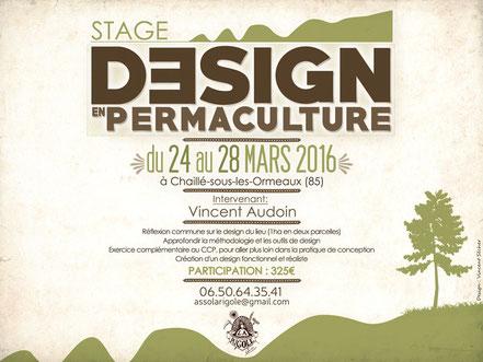 La Rigole - Événements et formations - Stage de design en permaculture du 24 au 28 mars 2016 à Chaillé-sous-les-Ormeaux (85)