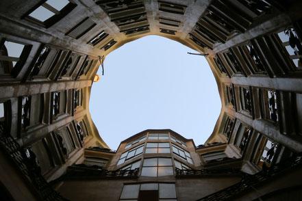 Innenhof Casa Milà, Barcelona