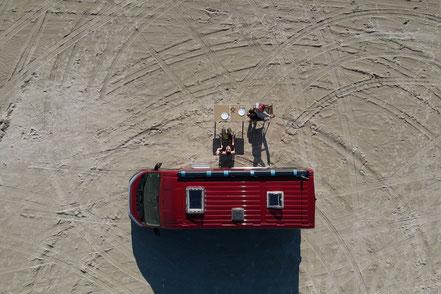BnB von oben, Lakolk Strand