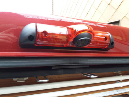 Die eingebaute Kamera (in der Bremsleuchte integriert)
