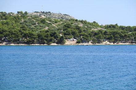 Campingplatz vom Meer aus gesehen