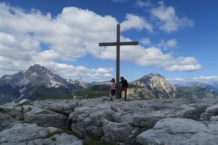 Gipfelkreuz Monte Piano, Dolomiten