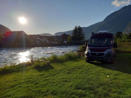 Bruheim Camping , Eidfjord direkt am Wasser