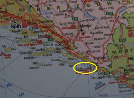 Karte Dubrovnik