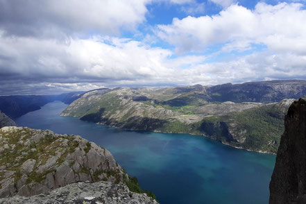 Lysefjord von oben