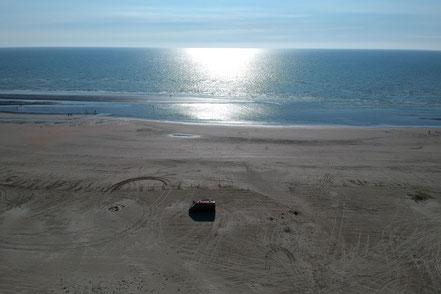 Alleine auf dem Lakolk Strand