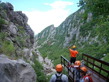Zipline Craotia, Omis, Kroatien