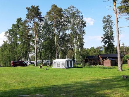 Unser Platz bei Torsviken Camping