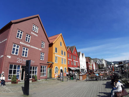 Häuserfronten Bryggen