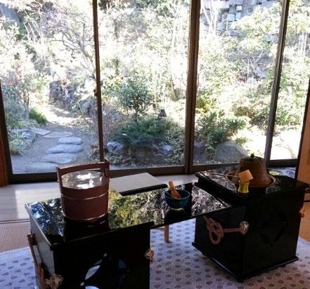 裏庭を望む部屋-東京 小日向 本法寺-東京都文京区のお墓 永代供養墓 法要-