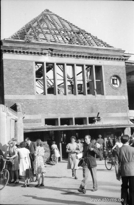 Herbst 1945 Bahnhof Nordeingang - ULB Münster