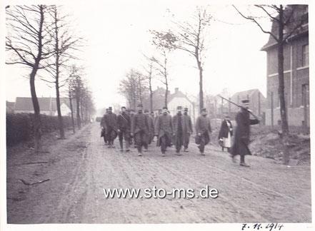 Französische Kriegsgefangenen auf der Grevener Straße
