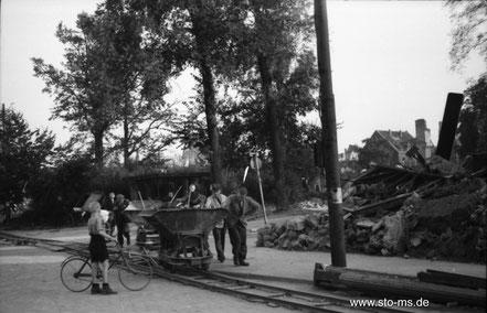 Herbst 1945 Promenade Servatiiplatz - ULB Münster