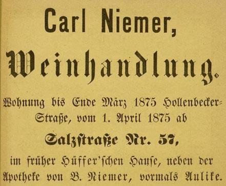 Werbung 1875