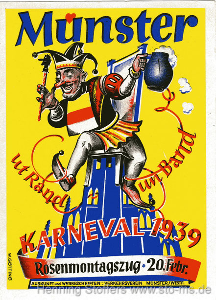 Werbekarte 1939 - Letzter Karneval vor dem Krieg