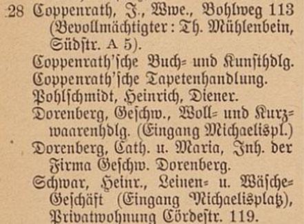 Einwohnerbuch 1899 - Prinzipalmarkt Haus Nr. 28
