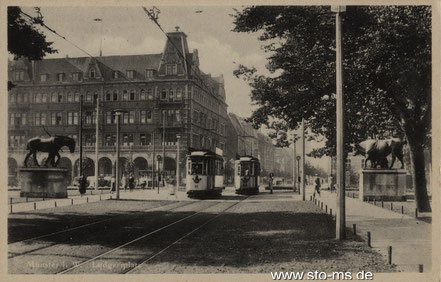Um 1930 - Blick stadtauswärts