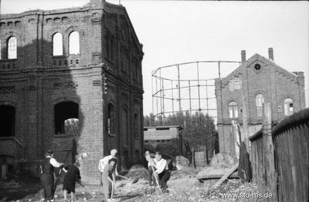 Herbst 1945 im Hafen - Bild ULB