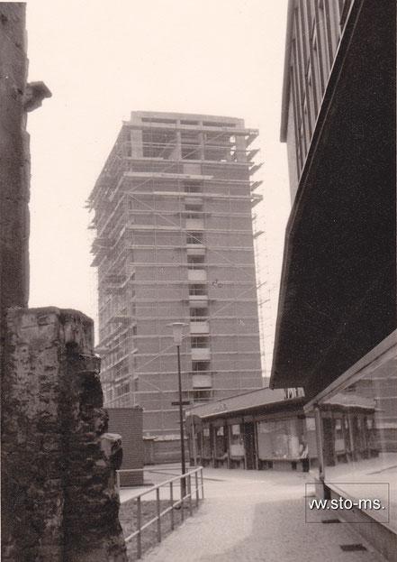 Blick auf den Rohbau des neuen Stadthauses