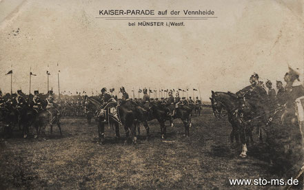 Kaiserparade 1907 auf der Vennheide