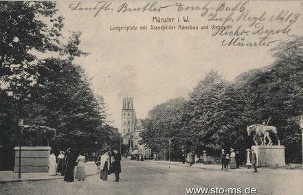 Um 1905 - Blick stadteinwärts
