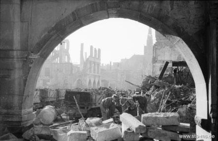 Prinzipalmarkt um 1946 - ULB Münster
