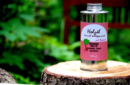 Woodini Leinöl-Rose, Holzöl, rosenöl mit leinöl, möbelpflegeöl