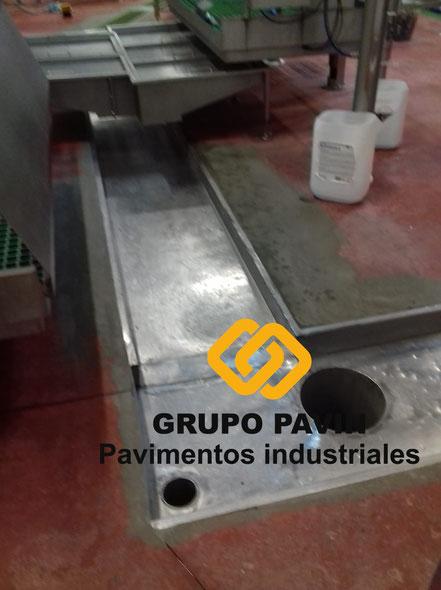 GRUPO PAVIN - Pavimentos Industriales   Reparaciones para industria cárnica - Estado del pavimento antes de la reparación